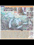 Great Lakes Region Wall Map Great Lakes Region Wall Map Great Lakes Region Wall Map