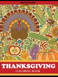 Thanksgiving Coloring Book: Thanksgiving Coloring Book for Adults Featuring Thanksgiving and Fall Designs to Color