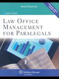 Law Office Management for Paralegals [With CDROM and Access Code]