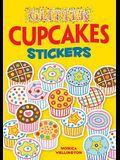 Glitter Cupcakes Stickers