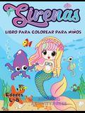 Libro de colorear de sirena para niños de 4 a 8 años: más de 40 páginas únicas y hermosas para colorear de sirena (Ideas para regalos de libros para n