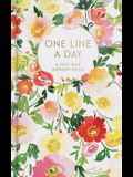 Floral One Line a Day: A Five-Year Memory Book (Blank Journal for Daily Reflections, 5 Year Diary Book)