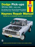 Dodge Ramcharger & Trailduster Full-Size Pick-Ups 1974 Thru 1993 Haynes Repair Manual: 1974 Thru 1993