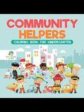 Community Helpers - Coloring Book for Kindergarten