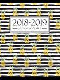 Agenda scolaire 2018-2019: 19x23cm: Agenda 2018 2019 semainier: Motif ananas 4268