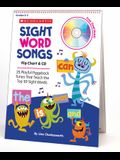 Sight Word Songs: Flip Chart & CD: 25 Playful Piggyback Tunes That Teach the Top 50 Sight Words [With CD]