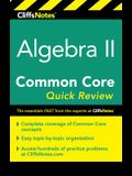 Cliffsnotes Algebra II Common Core Quick Review