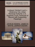 Lindauer (Herbert Loyd) V. Oklahoma City Urban Renewal Authority U.S. Supreme Court Transcript of Record with Supporting Pleadings