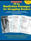 Hi-Lo Nonfiction Passages for Struggling Readers: Grades 4-5: 80 High-Interest/Low-Readability Passages with Comprehension Questions and Mini-Lessons