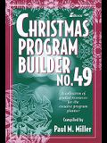 Christmas Program Builder No. 49