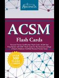 ACSM Personal Trainer Certification Flash Cards: ACSM Test Prep Review with 300+ Flash Cards for the American College of Sports Medicine Certified Per