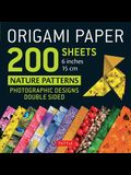 Origami Paper 200 Sheets Nature Patterns 6 (15 CM): Tuttle Origami Paper: High-Quality Double Sided Origami Sheets Printed with 12 Different Designs