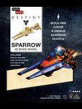 Incredibuilds: Destiny: Sparrow 3D Wood Model