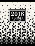 Agenda: 2018 Agenda semana vista español: 190 x 235 mm, 160 g/m² Triángulos abstractos en blanco y negro
