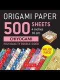 Origami Paper 500 Sheets Chiyogami Patterns 4 (10 CM): Tuttle Origami Paper: High-Quality Double-Sided Origami Sheets Printed with 12 Different Desig