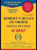 Robert's Rules of Order in Brief: Updated to Accord with the Eleventh Edition of the Complete Manual