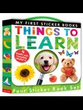 Things to Learn: Four Sticker Book Set