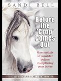 Before the 'Crop' Comes Out: 8 Essentials to Consider Before Disciplining Your Horse