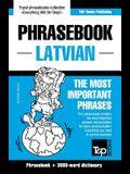 English-Latvian phrasebook & 3000-word topical vocabulary