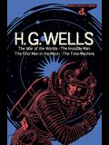 World Classics Library: H. G. Wells: The War of the Worlds, the Invisible Man, the First Men in the Moon, the Time Machine