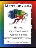 Micrographia: Historic Microscope Images Coloring Book