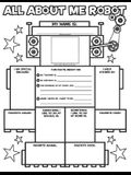 Graphic Organizer Posters: All-About-Me Robot: Grades K-2: Fill-In Personal Posters for Kids to Display with Pride