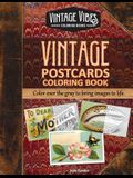 Vintage Postcards Coloring Book: Cover over the gray to bring images to life.