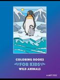 Coloring Books For Kids: Wild Animals: Animal Habitats: Coloring for Boys & Girls of all Ages, Toddlers, Beginner Friendly Designs, Elephants,