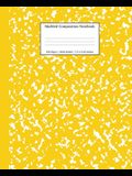 Marbled Composition Notebook: Yellow Marble Wide Ruled Paper Subject Book