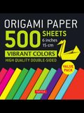 Origami Paper 500 Sheets Vibrant Colors 6 (15 CM): Tuttle Origami Paper: High-Quality Double-Sided Origami Sheets Printed with 12 Different Designs (
