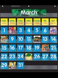 Monthly Calendar (Black) Pocket Chart