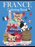 France Coloring Book: An Adult Coloring Book Celebrating French Culture