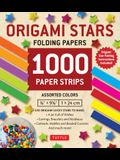 Origami Stars Papers 1,000 Paper Strips in Assorted Colors: 10 Colors - 1000 Sheets - Easy Instructions for Origami Lucky Stars