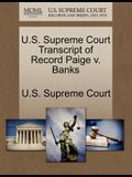U.S. Supreme Court Transcript of Record Paige V. Banks