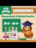 4th Grade Workbooks: Measurement & Division Practice