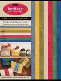 Kraft-Tex Sampler Essential Colors Hand-Dyed & Prewashed: Kraft Paper Fabric, 7-Sheets 8.5 X 11