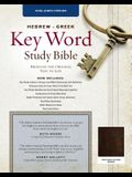 The Hebrew-Greek Key Word Study Bible: KJV Edition, Brown Genuine Goat Leather