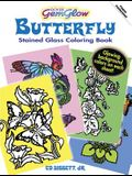 Dover GemGlow Butterfly Stained Glass Coloring Book