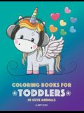Coloring Books for Toddlers: 50 Cute Animals: Cute Animal Colouring Book for Girls or Boys, Cute Owl, Cat, Dog, Rabbit, Bear, Relaxing, Magnificent