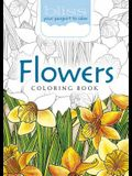Bliss Flowers Coloring Book: Your Passport to Calm