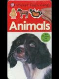 Sticker Flash Cards Animals [With 60 Stickers]