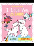 I Love You Cards: 25 Clever Cards to Color + Envelopes Included
