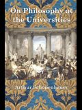 On Philosophy at the Universities