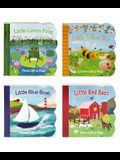 Blue Boat, Green Frog, Red Barn, Yellow Bee 4 Pack