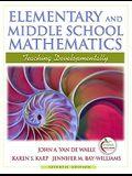Elementary and Middle School Mathematics: Teaching Developmentally (7th Edition)