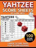 Yahtzee Score Sheets: 100 Large Score Pads for Scorekeeping - 8.5 x 11 Yahtzee Score Cards