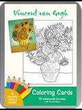 Vincent Van Gogh Coloring Card