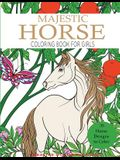 Majestic Horse Coloring Book for Girls