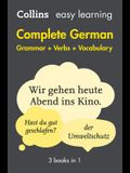 Complete German Grammar Verbs Vocabulary: 3 Books in 1