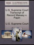 U.S. Supreme Court Transcript of Record Massey V. Papin
